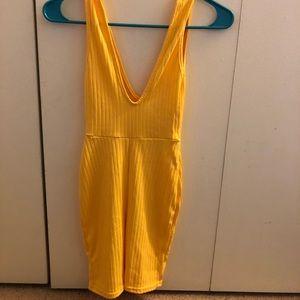 Yellow unitard